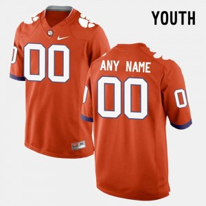 Clemson Tigers Customized Jersey #00 Orange College Limited Football Youth