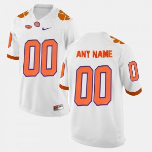 Clemson Tigers Custom Jersey College Limited Football White Mens #00