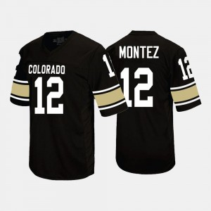 Colorado Buffaloes Steven Montez Jersey #12 Men Black College Football