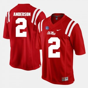 Ole Miss Rebels Deontay Anderson Jersey Alumni Football Game Red Men's #2