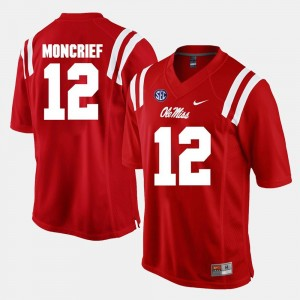 Ole Miss Rebels Donte Moncrief Jersey Red Men's Alumni Football Game #12