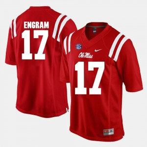Ole Miss Rebels Evan Engram Jersey For Men's Red #17 Alumni Football Game