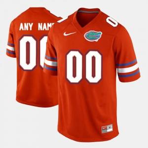 Florida Gators Customized Jersey #00 Orange For Men's College Limited Football