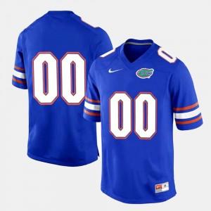 Florida Gators Custom Jersey Royal Blue College Limited Football Men #00