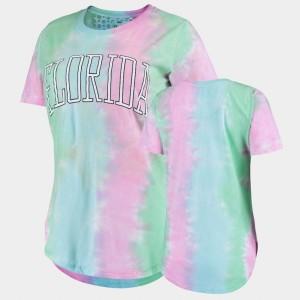 Florida Gators T-Shirt Rainbow Bay Women's Tie Dye