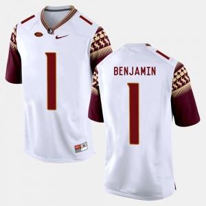 Florida State Seminoles BKelvin Benjamin Jersey #1 College Football White Men