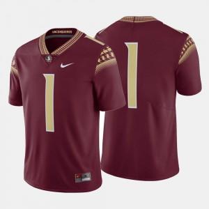 Florida State Seminoles Jersey College Football Garnet #1 For Men's