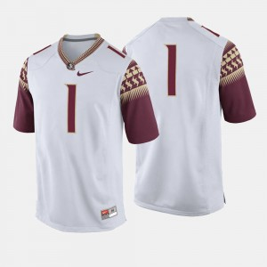Florida State Seminoles Jersey For Men's College Football #1 White