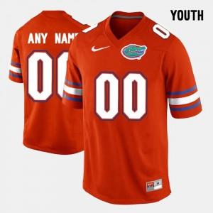 Florida State Seminoles Custom Jersey College Limited Football For Kids #00 Orange