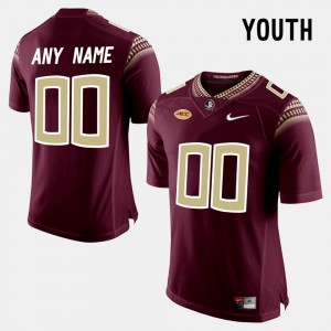 Florida State Seminoles Custom Jerseys College Limited Football Youth(Kids) Red #00