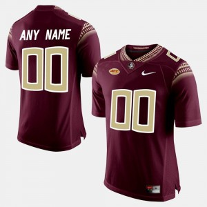 Florida State Seminoles Custom Jersey College Limited Football #00 Men's Red