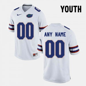 Florida State Seminoles Custom Jersey #00 White Youth College Limited Football