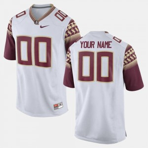 Florida State Seminoles Custom Jersey White For Men College Limited Football #00