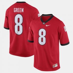 Georgia Bulldogs A.J. Green Jersey Red #8 Men Alumni Football Game