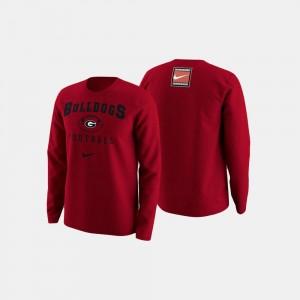 Georgia Bulldogs Sweater For Men's Red College Football Retro Pack