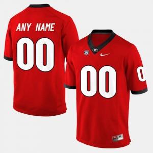 Georgia Bulldogs Custom Jersey #00 Mens College Limited Football Red
