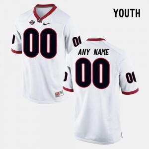 Georgia Bulldogs Custom Jerseys College Limited Football #00 For Kids White