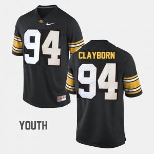Iowa Hawkeyes Adrian Clayborn Jersey Youth #94 Black College Football