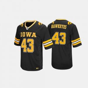 Iowa Hawkeyes Jersey Hail Mary II For Men #43 Black