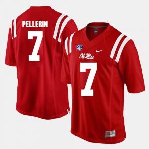 Ole Miss Rebels Jason Pellerin Jersey #7 Red Alumni Football Game For Men's