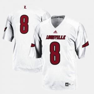Louisville Cardinals Jersey Men White #8 College Football