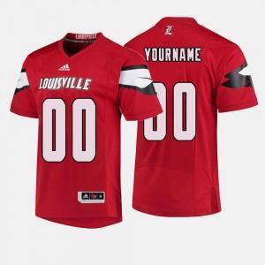 Louisville Cardinals Customized Jersey #00 College Football Men Red