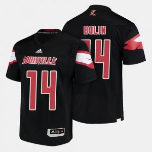 Louisville Cardinals Kyle Bolin Jersey Men #14 Black College Football
