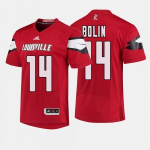 Louisville Cardinals Kyle Bolin Jersey Red College Football Men's #14