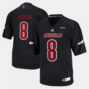 Louisville Cardinals Lamar Jackson Jersey #8 Men College Football Black