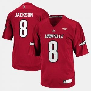 Louisville Cardinals Lamar Jackson Jersey #8 Red For Men College Football