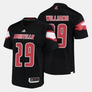 Louisville Cardinals Malik Williams Jersey For Men's #29 College Football Black