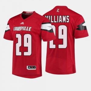 Louisville Cardinals Malik Williams Jersey Red Mens College Football #29