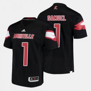 Louisville Cardinals Traveon Samuel Jersey #1 Black Mens College Football