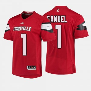 Louisville Cardinals Traveon Samuel Jersey #1 For Men's College Football Red