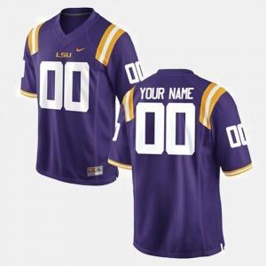 LSU Tigers Custom Jerseys For Men #00 Purple College Football