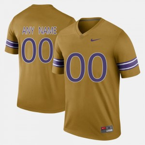 LSU Tigers Custom Jersey For Men's Gridiron Gold Throwback #00