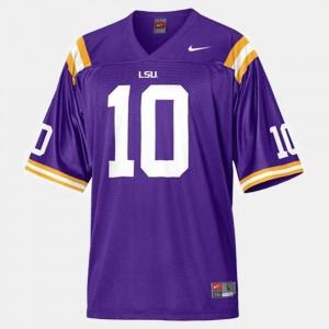 LSU Tigers Joseph Addai Jersey Purple #10 Men's College Football