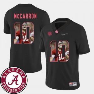 Alabama Crimson Tide AJ McCarron Jersey Black Pictorial Fashion #10 Mens Football