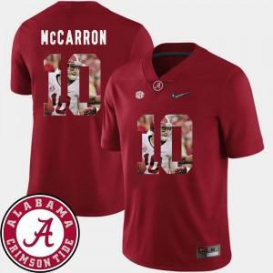 Alabama Crimson Tide AJ McCarron Jersey For Men's Pictorial Fashion Football #10 Crimson