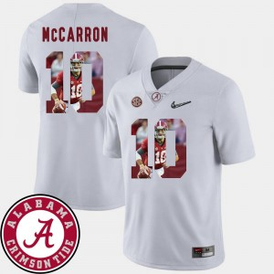 Alabama Crimson Tide AJ McCarron Jersey Men's #10 Pictorial Fashion White Football