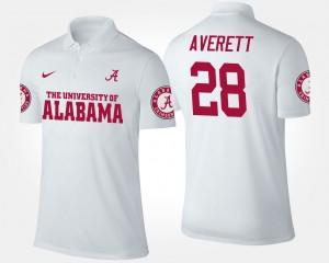 Alabama Crimson Tide Anthony Averett Polo White #28 Men's