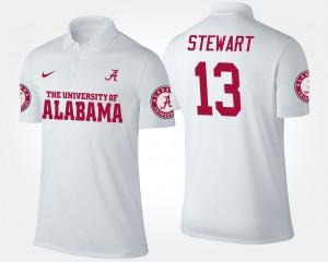 Alabama Crimson Tide ArDarius Stewart Polo White Mens #13