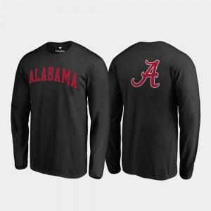 Alabama Crimson Tide T-Shirt Black Primetime For Men Long Sleeve