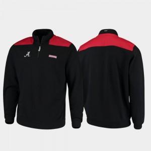 Alabama Crimson Tide Jacket Black For Men's Shep Shirt Quarter-Zip