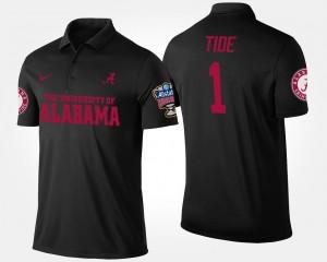Alabama Crimson Tide Polo #1 Bowl Game No.1 Sugar Bowl Black Men's