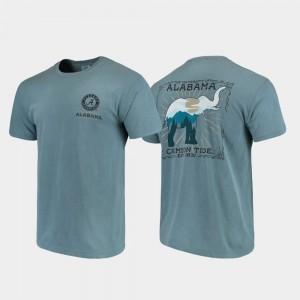 Alabama Crimson Tide T-Shirt For Men's Blue Comfort Colors State Scenery