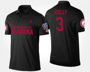 Alabama Crimson Tide Calvin Ridley Polo Sugar Bowl #3 Bowl Game Black For Men's