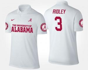 Alabama Crimson Tide Calvin Ridley Polo Mens #3 White