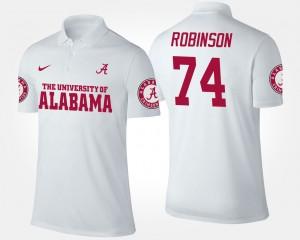 Alabama Crimson Tide Cam Robinson Polo For Men's White #74