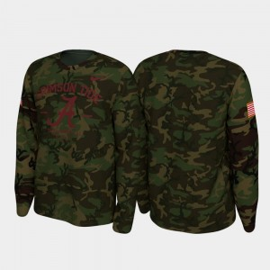 Alabama Crimson Tide T-Shirt Camo 2019 Veterans Day Legend Long Sleeve Men's